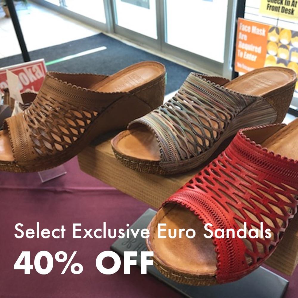Euro Sandals 40% Off
