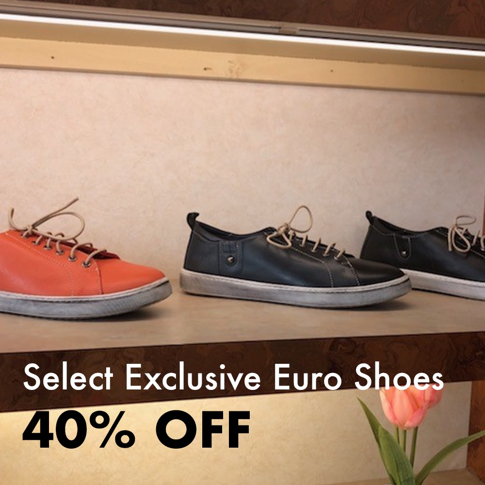Euro Shoes 40% Off