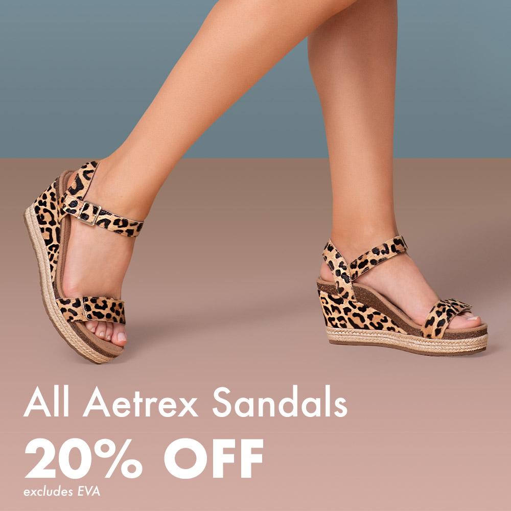 Aetrex Sandals 20% Off