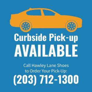 Curbside pickup at Hawley Lane Shoes CT