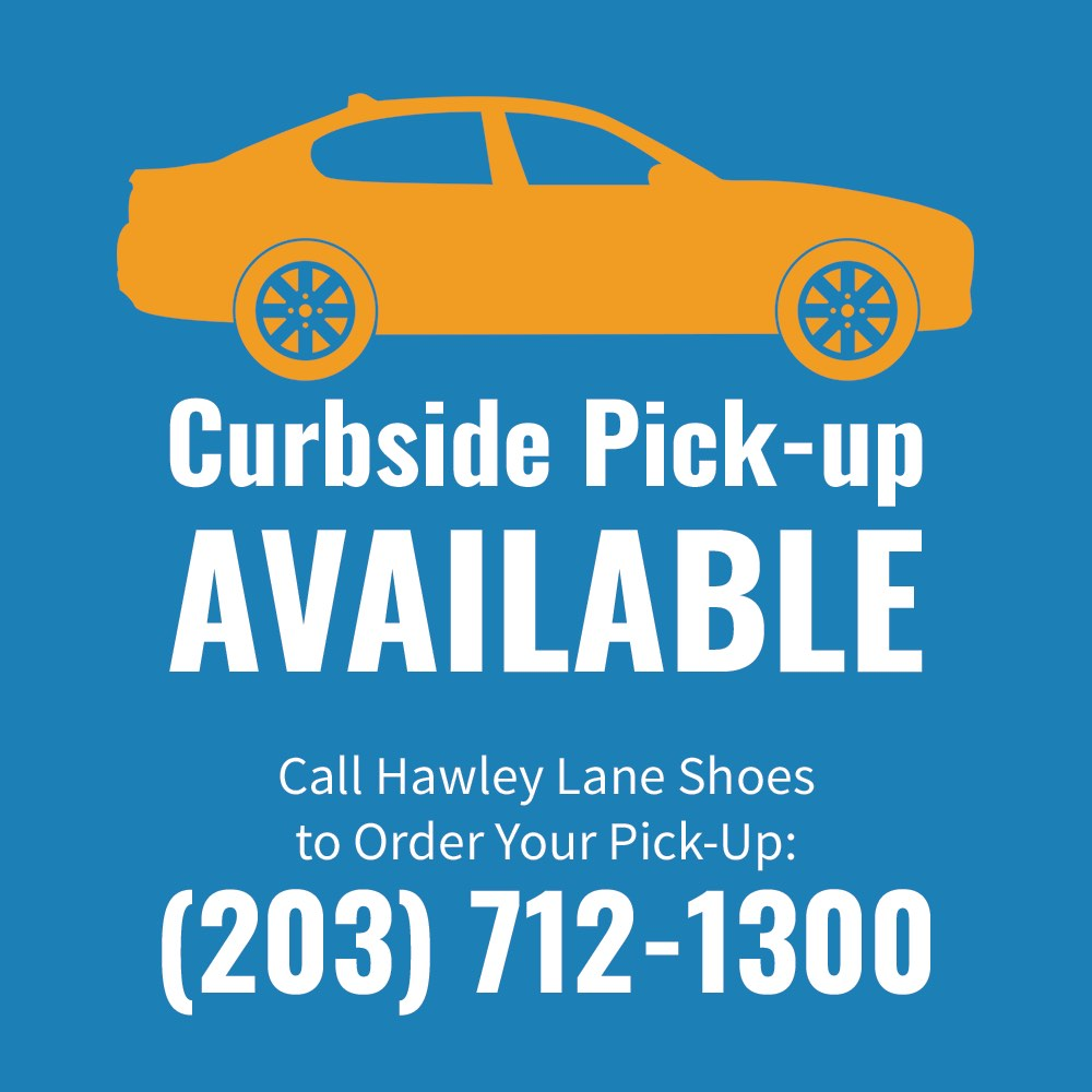 Curbside pickup at Hawley Lane Shoes CT