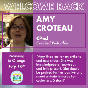 Amy Croteau, Certified Pedorthist at Hawley Lane Shoes, CT